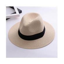 SUOGRY Marca Chapéus De Palha Para As Mulheres Chapéu Panamá Bege Branco  Mens Casual Praia Havaiana de Abas Largas Verão Moda Ch.. d02524813ac