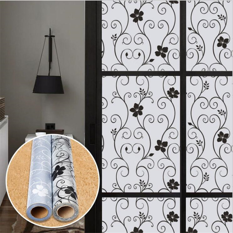 90cm 200cm Frosted Opaque Gl Window Film Privacy Stickers Home Decor Black White
