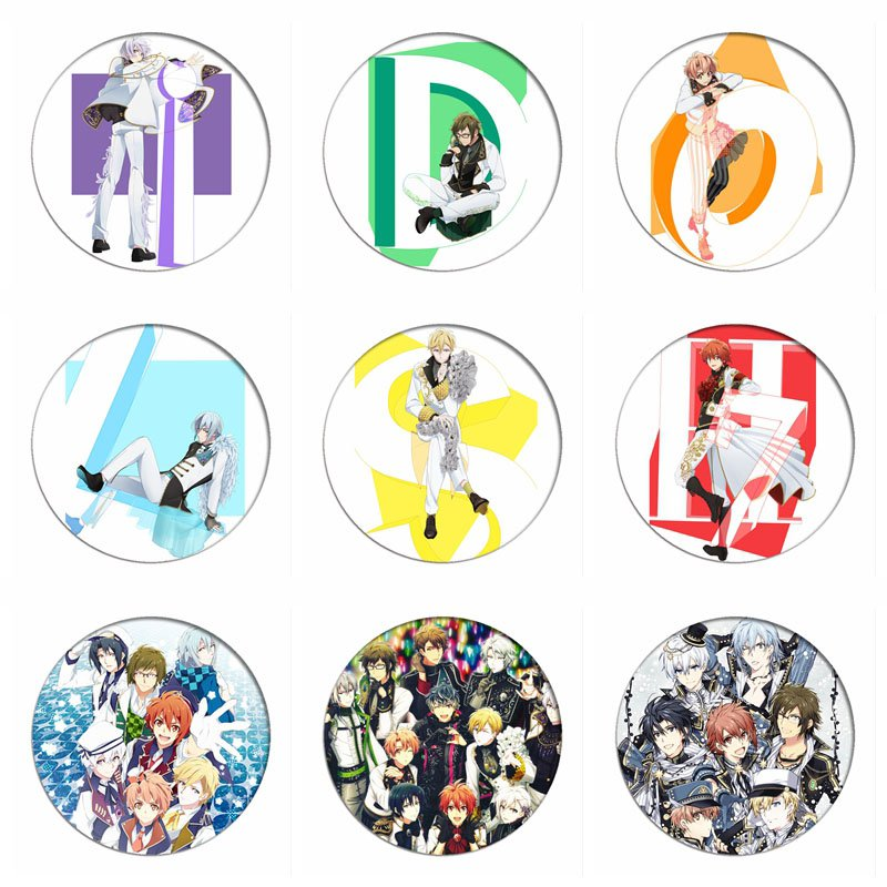 Japan Game Idolish7 Cosplay Badges IZUMI IORI Brooch Pins NIKAIDO YAMATO Icon IZUMI MITSUKI Collection Breastpin For Bag Clothes
