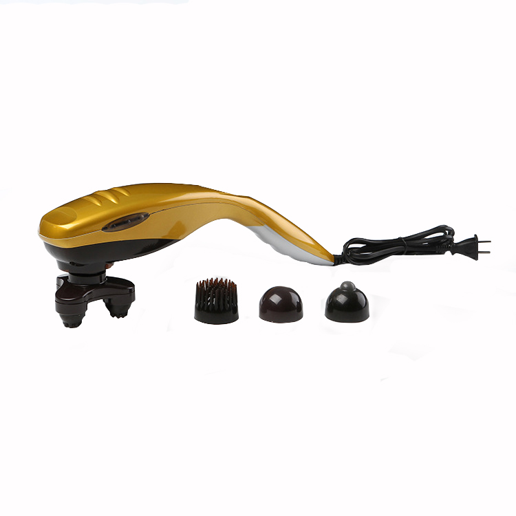 4 Head Electric Massagers Cervical Vertebra Back Massage Device Multifunctional Neck Leg Full-body Massage Relax Hammer