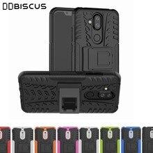 Heavy Duty Armadura Detentor Capa de silicone para o Nokia X5 X6 X7 5.3 1 2 3 5 6 8 3.1 5.1 6.1 Plus 8.1 3.2 Além disso 4.2 7.1 2.1 2.2 6.2 7.2 2.3 tampa