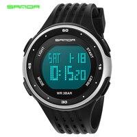 2017 New SANDA Brand Watch Men LED Digital Military Watch 3ATM Waterproof Dress Sports Watches Fashion