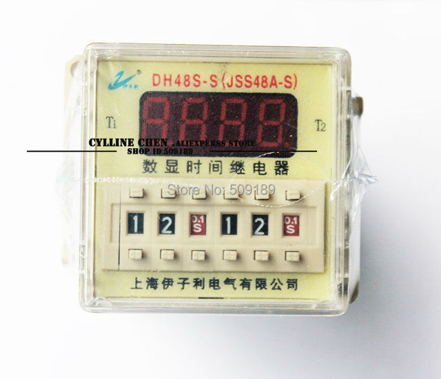US $37.5  DH48S S 0.1s~9.9s time delay relay super time relay time on
