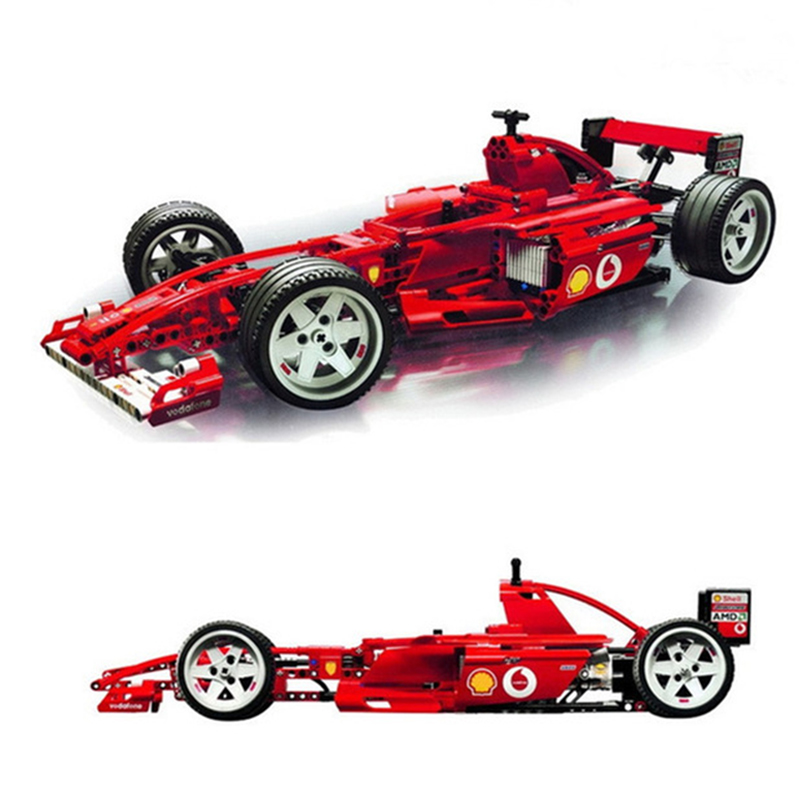 1242Pcs Formula Racing Car 1:8 Model 3335 Building Blocks Brick Sets Educational DIY Toys For Children Boys Christmas Gifts-in Blocks from Toys & Hobbies    1
