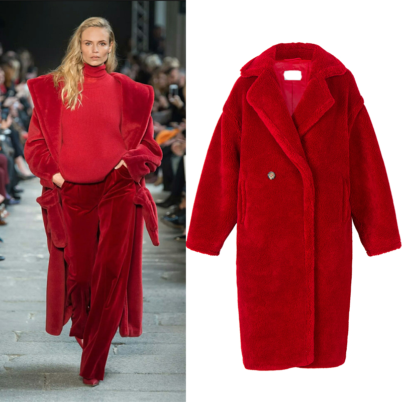 2019 nova moda feminina real pele de ovelha sobre casaco menina lazer 4 cores dia frio inverno quente casaco europeu eua moda casaco