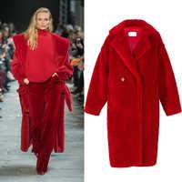 2019 nuevo abrigo de piel de oveja real de moda para mujer abrigo de invierno de 4 colores de ocio para niña abrigo de moda europea de EE. UU.