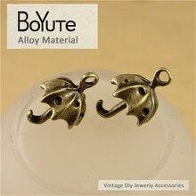 BoYuTe (50 Peças/lote) 19*13 MM Liga de Zinco de Bronze Antigo Chapeado Encantos Pingente Guarda-chuva Diy Resultados Da Jóia acessórios