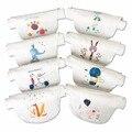 Crochê bebê 0-8 anos crianças sweatbands towel pano dos desenhos animados prints algodão 2 camadas de gaze absorver o suor pano de volta towel