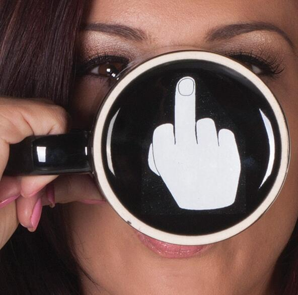 Creative Have a Nice Day Coffee Mug Middle Finger Funny Cup for Coffee Milk Tea Cups Novelty Gifts 10oz 3