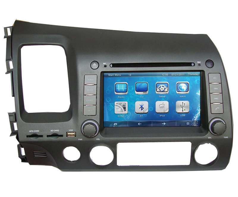"7"" Car DVD player with GPS(optional),audio Radio stereo,BT,car multimedia headunit for Honda CIVIC 2006 2007 2008 2009 2010 2011"