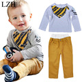 LZH Baby Boys Clothes Set 2017 Spring Autumn Long Sleeve Cotton T-shirt+Pant 2pcs Outfit Suit Kids Boy Clothing Children Clothes