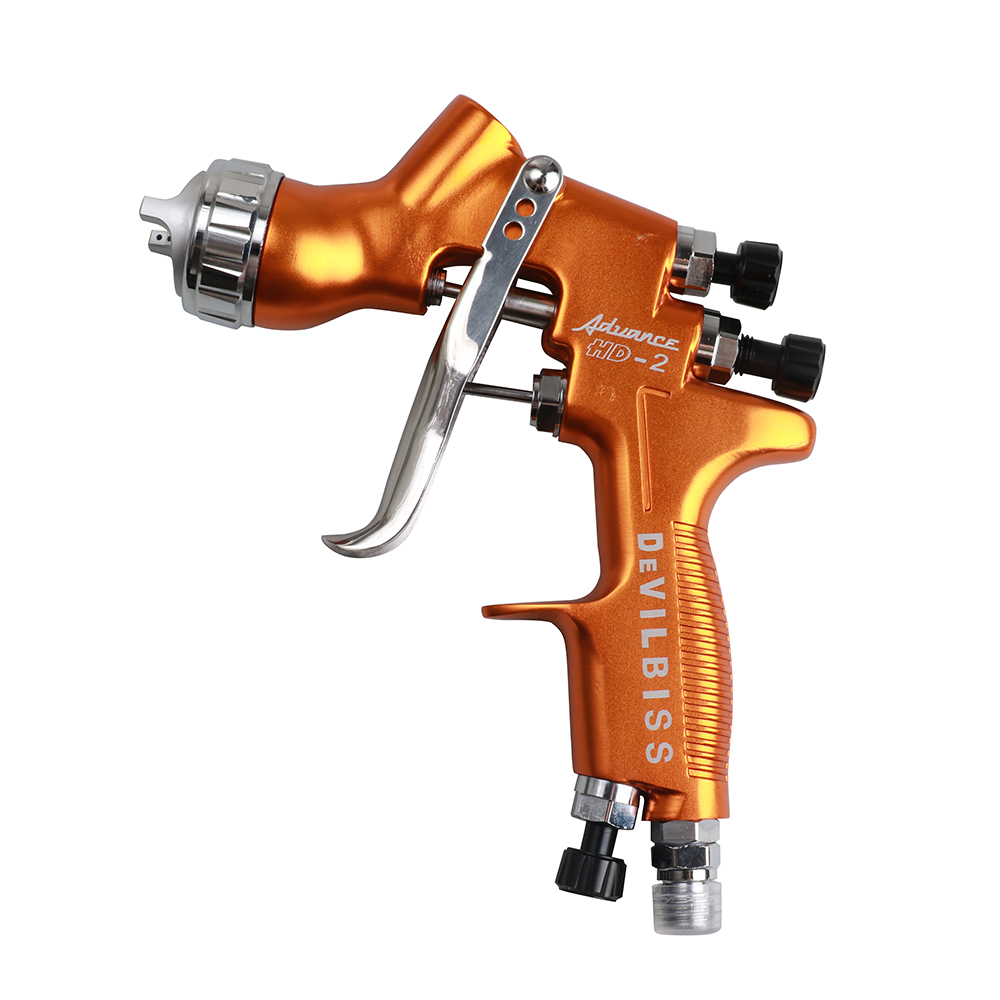 HD-2 Car Spray Paint Gun Gravity Feed for All Auto Paint ,Topcoat and Touch-Up with 600 cc Plastic Paint Cup 1.3 mm Tip