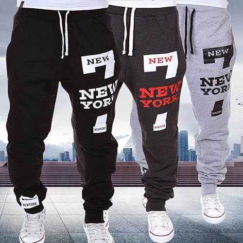 items! Men York Print Jogger Dance Sportwear Baggy Casual Pants Trousers Sweatpants
