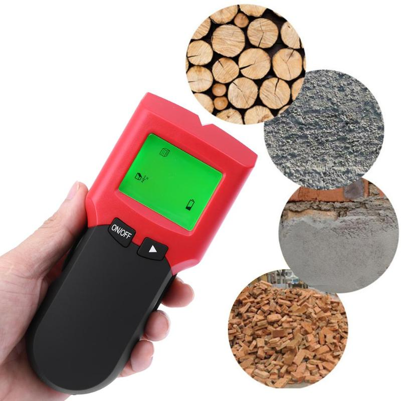 3 In1 LCD Portable Metal Detectors Stud Center Electric Box Finder Wire Scanner Metal and AC live Wire Detector Wall Scanner multi scanner 3in1 lcd wall stud detector metal voltage cable wood finder portable live wire scanner tool