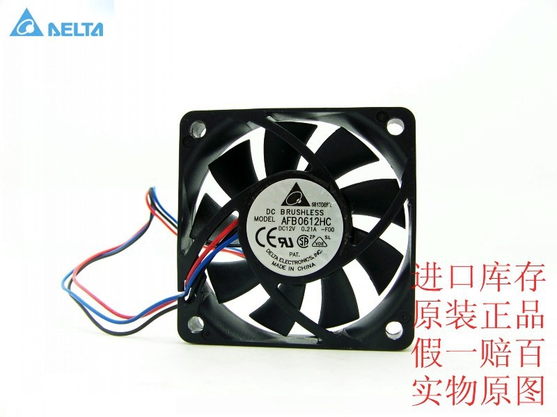 Delta 6013 6CM 60mm fan double ball AFB0612HC -F00 0.21A original delta afb0612vhc 6cm 60mm 6013 6 6 1 3cm 60 60 13mm 12v 0 36a dual ball bearing cooling fan specials