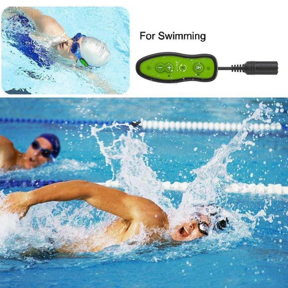 Étanche IPX8 Mini natation lecteur MP3 Sport musique 4 GB MP3 plongée sous-marine + Earphonehone