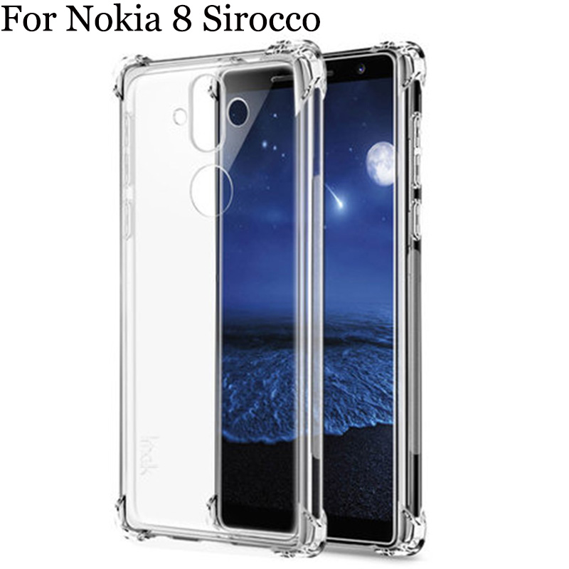Phone cases For Nokia 8 Sirocco case transparent soft back cover For Nokia8 Sirocco shell case cover For Nokia 8Sirocco capas