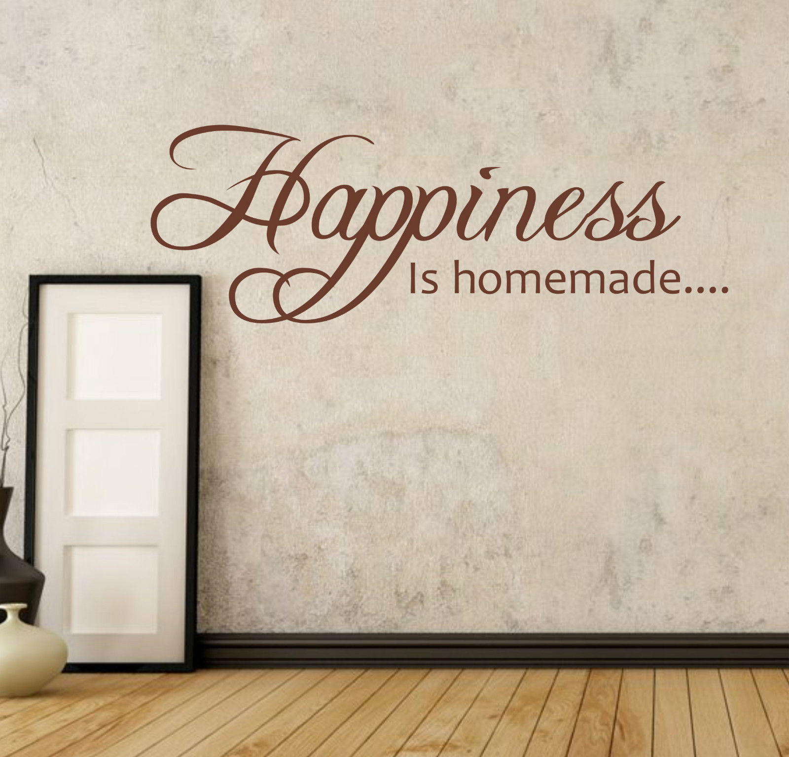 online get cheap homemade wall stickers aliexpress com alibaba happiness is homemade wall quote decal sticker kitchen free shipping
