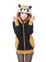 Kigurumi Raccoon Cute Japan Ears Face Tail Zip Hooded Sweatshirt Cosplay Costume Hoodies Jacket,Animal Hoodies
