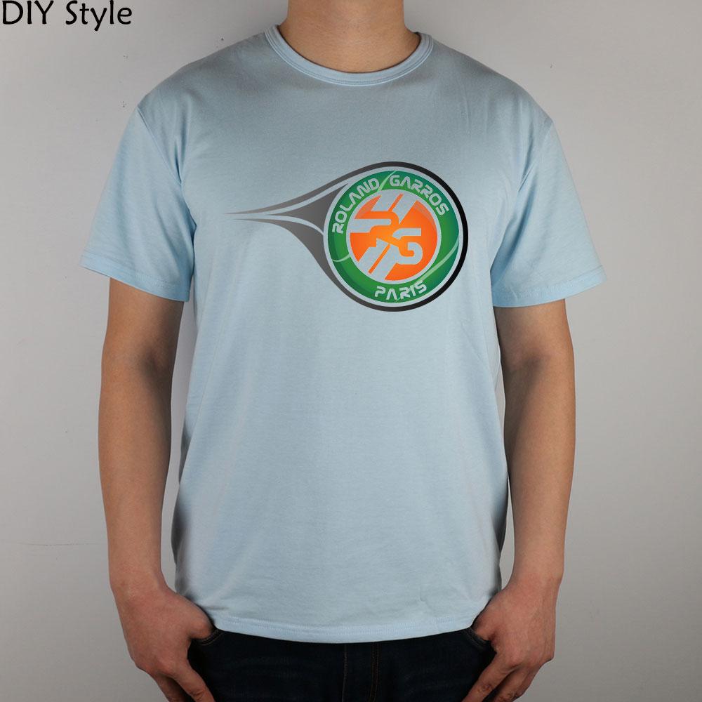 4ae0edda08ed0 PARIS ROLAND GARROS T-shirt de algodão Lycra topo Moda Marca t shirt dos  homens novos de alta qualidade