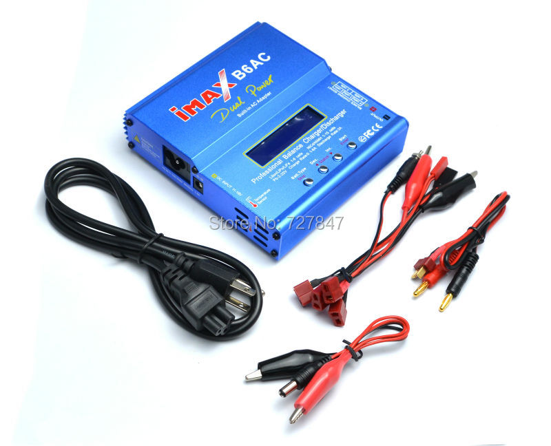 New iMAX B6 AC B6AC Lipo NiMH 3S RC Battery Balance Charger with B6AC European Universal Power Cord Power Cable 1pcs 2s 3s 4s 5s 6s balance charger cable lipo battery balance charger cable for imax b3 b6 connector plug wire