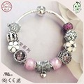 Hot Sale Silver Jewelry Christmas Gifts  Famous Brand 925 Sterling Silver Charm Bracelet