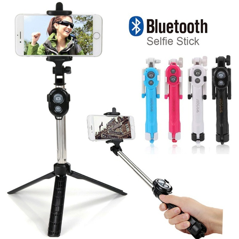 Bluetooth Selfie Stick Self-Timer Pole Self-portrait Monopod For SmartPhones Gopro Hero Digital Camera 19cm-75cm Selfie Stick стоимость