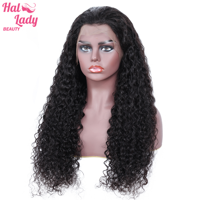 13x4 Kinky Curly Lace Frontal Wigs With Baby Hair Malaysian Plucked Lace Front Human Hair Wigs
