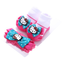 baby girls infant toddler cotton warm socks cute princess fashion bow-knot  floral cheap stuff Gift box and headband Christmas