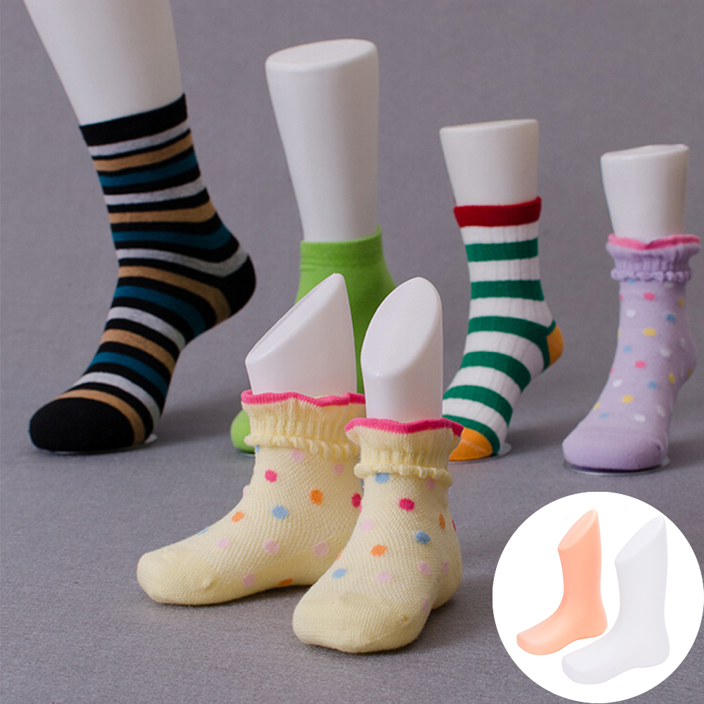 1 Pcs New Hard Plastic Children Kids Baby Feet Mannequin Foot Model Tools for Shoes Sock Display Socks Tool Supply 2 Colors new 2pcs female right left vivid foot mannequin jewerly display model art sketch
