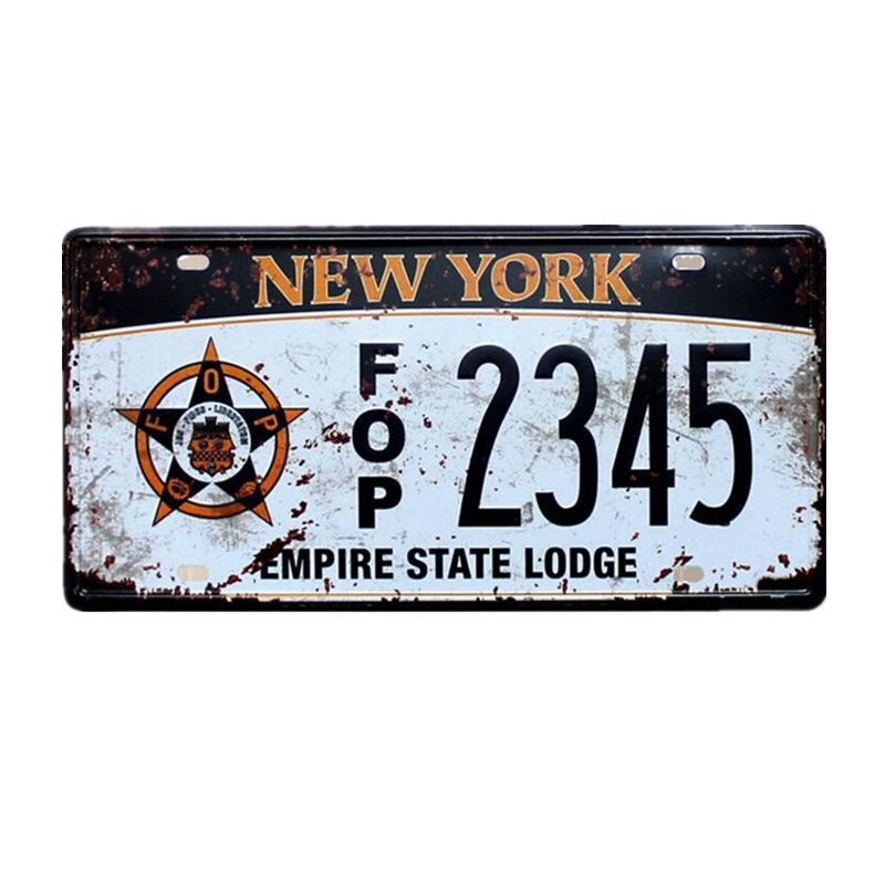 2019 Vintage Metal Tin Sign Car Number License Plate Shabby Chic Plaque Wall Poster Bar Cafe Garage Home Decor Wholesale A917
