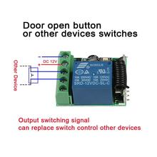 QIACHIP DC 12V 1CH 433MHz Wireless Remote Control Smart Switch RF Relay Receiver 433 MHz Button Module For Smart Home LED Light qiachip wireless lights switch kit 3ch 433mhz rf remote control light switch and receiver module touch home wall light panel set