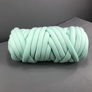 Image 3 - Новое ручное плетеное одеяло 24 м, круглая пряжа из крупной ткани, шерстяная пряжа для ручного вязания «сделай сам», домашняя антихолодная пряжа