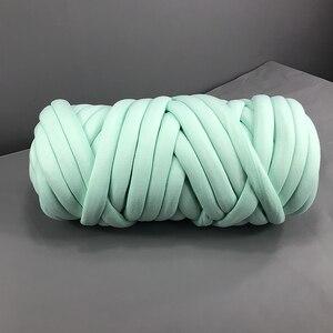 Image 3 - Manta tejida a mano para el hogar, hilo de núcleo redondo, hilo grueso, bricolaje, antifrío, 24 m
