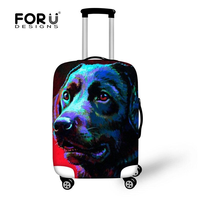 Forudesigns/3d животное печати чемодан Крышка, Чемодан защитный Чехлы для мангала для 18-33 чемодан, эластичный пыль Туристические товары крышка