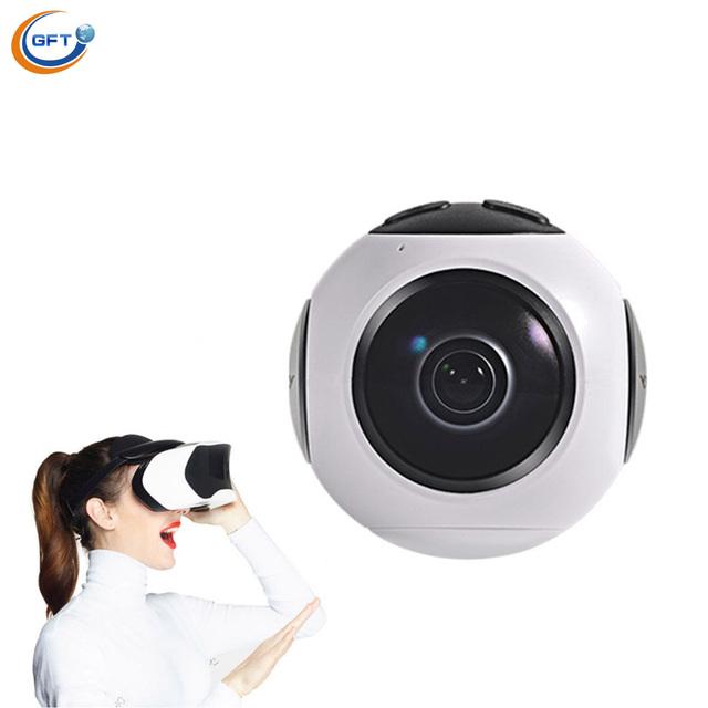 2017 Mais Novo Camera 360 4 k VR Graus Mini Câmera 360*220 Tela Grande Angular Moda Fotografia Aérea 360 câmera