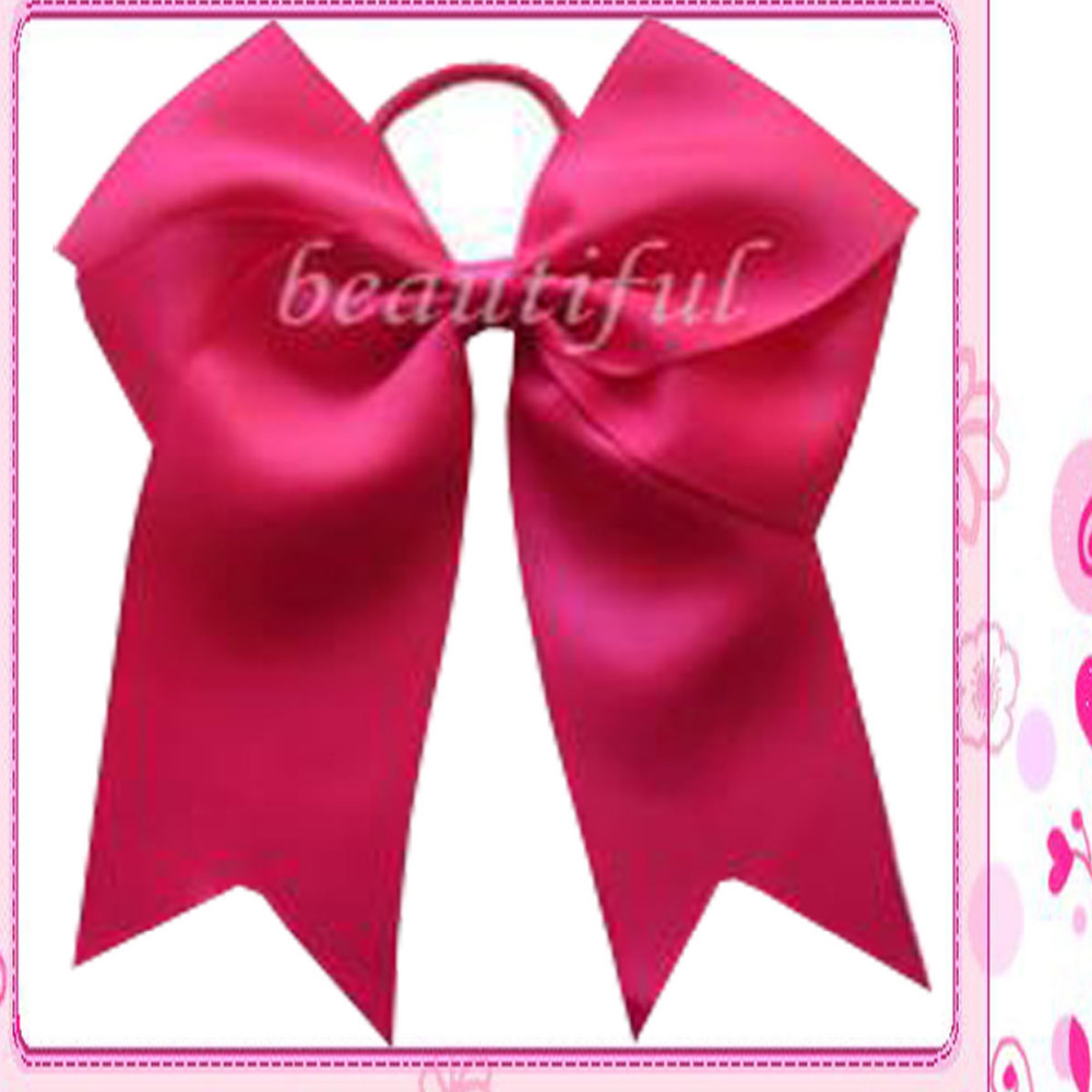 10 BLESSING Good Girl Hair Accessories Long Tail 7.5 Cheer Leader Bow Elastic