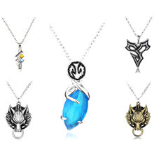 Game Final Fantasy VIII 8 Pendant Necklace Vintage Metal Sleep Lion Head Squall Griever Statement Necklace Jewelry Gift(China)