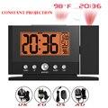 Baldr mesa projeção relógio despertador relógio de parede teto constante temperatura tempo de exibição backlight snooze relógio lcd termômetro digital