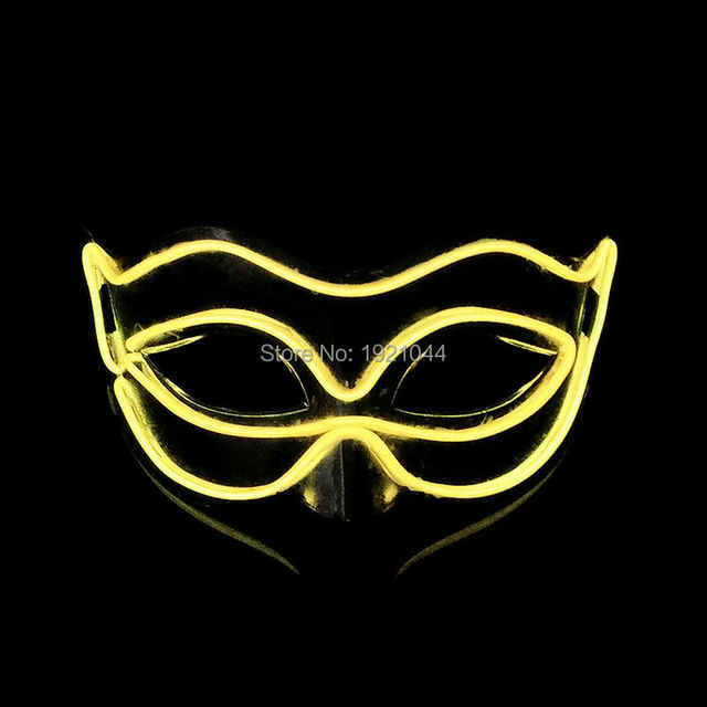2017 Hot Glow Party Fox Masks Christmas Stage Show out of the Cold light Cosplay Party Decorative EL wire Masks Halloween Mask