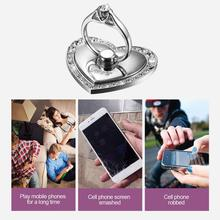 Female Mobile Gamers Finger Heart Ring Mobile Holder