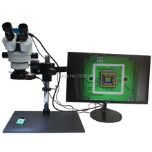 3.5X~90X Trinocular Guide Stereo Zoom Microscope 16MP 1080P 60FPS HDMI Camera 25cm Working Distance PCB Inspection Phone Repair
