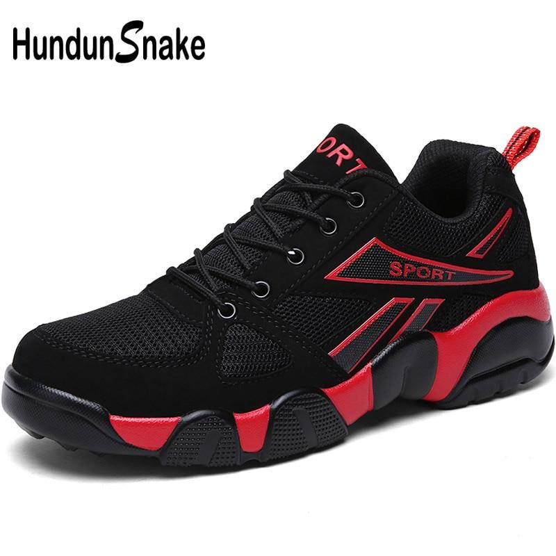 Hundunsnake Black Mesh Sneakers Men Summer Male Sports Shoes Adult Mens Running Shoes Women's Sport Shoes Men Gym Krasovki T131