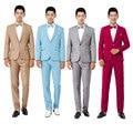 Nova de manga comprida masculina de vestido ternos hospedado teatral smoking para o casamento Prom desempenho pano paletó e calças