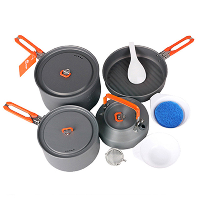 ФОТО Fire Maple Feast-4 Hot Sale 4-5 Person Cooking Pot Camping Cookware Outdoor Pot Sets Camping Hiking Cookware Picnic Sets
