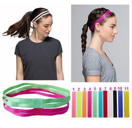 <+>  прибытие 10 шт. Женщины Мужчины двойные йоги ленты для волос Спортивная Повязка на голову Противоско ①