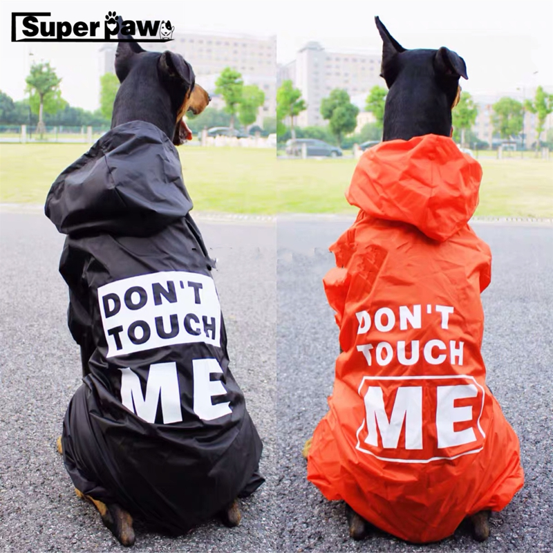 Fashion Medium Large Dog Raincoat Dogs Rain Coat font b Pet b font Clothes Puppy Doberman
