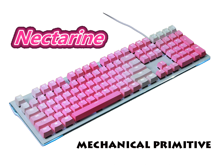 цена MP 104/108 Keys PBT Double Color Pink Injection Keycaps OEM Height For Wired USB Cherry MX Switches Mechanical Keyboard Keycaps