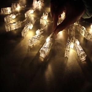 Image 4 - Luzes customizadas para decoração de casamento, suporte estrelado para fotos, corda, decoração de livro, janela, natal, peças de mesas, bateria