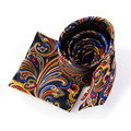 2016 New Hot Selling Mens Neck Ties Set Paisley Pocket Squares and Tie Sets for Wedding Suits Men Exquisite Tie Handkerchief